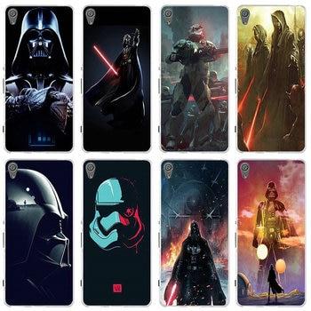 Star Wars Darth Vader suave TPU funda de silicona para Sony Xperia E3 E5 T3 M2 M4 M5 XA XZ Z z1 Z2 Z3 Z4 Z5 compacto