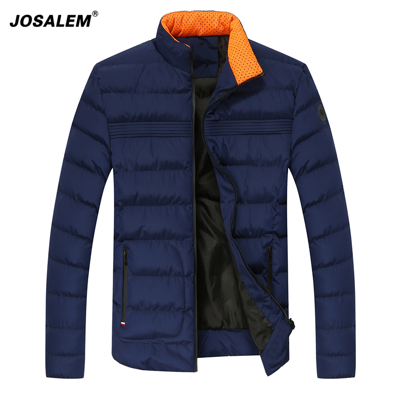 JOSALEM Man Stand Collar font b Parkas b font Coat 2017 New Casual Winter Jacket For