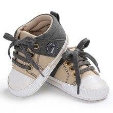 Детская обувь; классическая парусиновая обувь для маленьких мальчиков; Весенняя хлопковая обувь с ремешками для новорожденных мальчиков и девочек; обувь для первых шагов