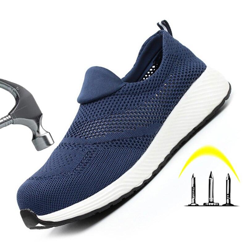 Zapatos de seguridad de trabajo de marca, zapatos de seguridad de acero ligeros Toecap indestructibles, botas de seguridad de trabajo para hombres y mujeres, zapatos masculinos transpirables DB12911 zapatos deportivos blancos de primavera para bebé de David Bella zapatos sólidos casuales de niño recién nacido