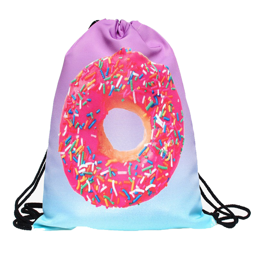 rosquinha doces 2017 novo cordão Girl Backpack : Branch Backpack