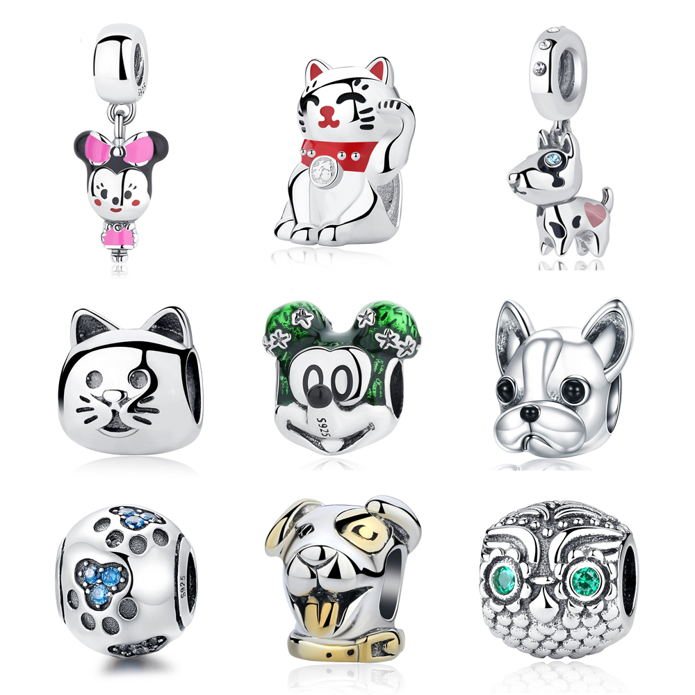 Beads & Jewelry Making New Original 100% 925 Sterling Silver Bead Charm Robot Dog Charms Love Pet Fit Pandora Bracelets Women Diy Jewelry Making Jewelry & Accessories