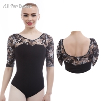 Free Shipping New Arrival Lace Sleeve Ballet Leotard Adult Women Dancewear Ballet Bodysuit Gymnastic Dance Leotards