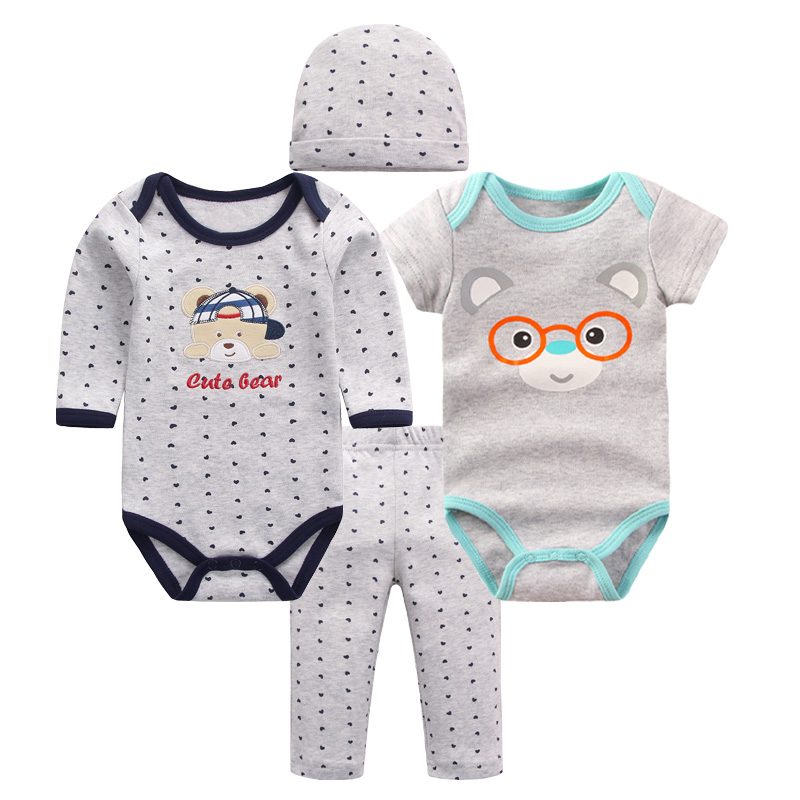 2017 Summer Baby Boy Girl Clothes Kids Suit Shirt+Pants+hat Cotton Outfits Baby Clothing Sets Roupa Bebes Menino Costume TZ-1 winter infant kids baby boy girl clothes sets costume newborn baby clothing sets toddler bebes outfits pajamas wear sport suits