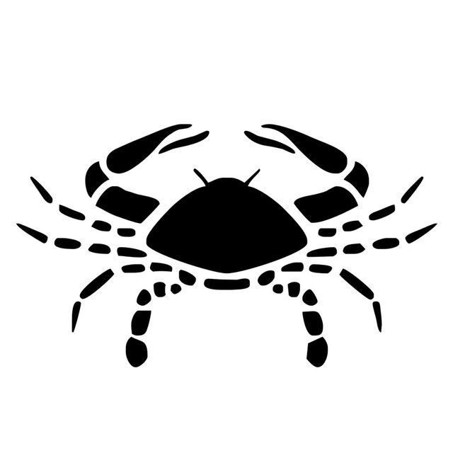 Online Shop Large Crab Wall Stickers Vinyl Removable DIY Bedroom ...