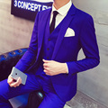 Royal Blue Tuxedo 2015 New Arrival Lastest Coat Pant Wine Red Black Designs Costume Mariage Homme Wedding Suits for Men
