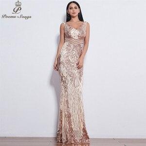 Image 4 - Đẹp Đôi Cánh Thiên Thần Đầm Váy ĐầM Dạ Nữ Dài Đầm Vestido De Festa Váy Dạ Hội Vestidos Đầm Vestido De Festa Longo