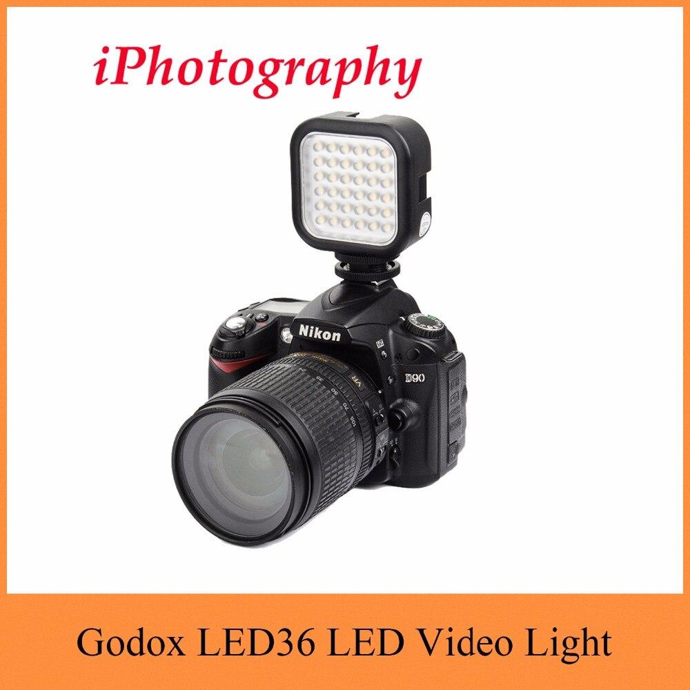 5565fe49dc2e7 Godox LED36 5500 ~ 6500 K LED Luz De Vídeo 36 LEVOU Lâmpada Luzes de  Iluminação Fotográfica para DSLR Camera Filmadora mini DVR
