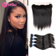 Spring Queen Hair Filipino Straight Hair 4 Bundles with Closure 10A Rosa Hair Products with Closure 13×4 Lace Frontal Closure