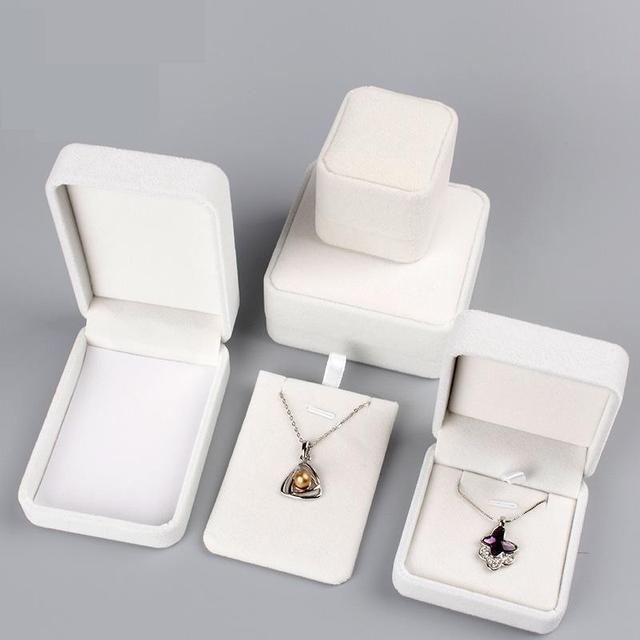 High Quality Velvet Fabric Jewelry Box Gift Box RingNecklaceBangle