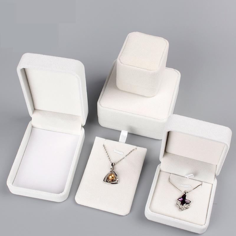 High Quality Velvet Fabric Jewelry Box Gift Box Ring/Necklace/Bangle Jewelry Organizer Storage Boxes Jewelry Display Organizador
