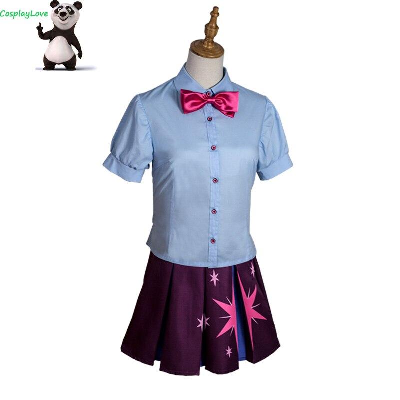 CosplayLove mon petit poney: l'amitié est magique crépuscule étincelle Cosplay Costume sur mesure pour noël Halloween CosplayLove