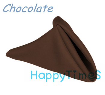 100pcs/lot Wedding&Banquet Decoration Luxury 40*40cm 100% Polyeste Chocolate Napkin Wedding Cloth Napkins CL008