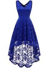 Женское кружевное платье для выпускного вечера с v образным