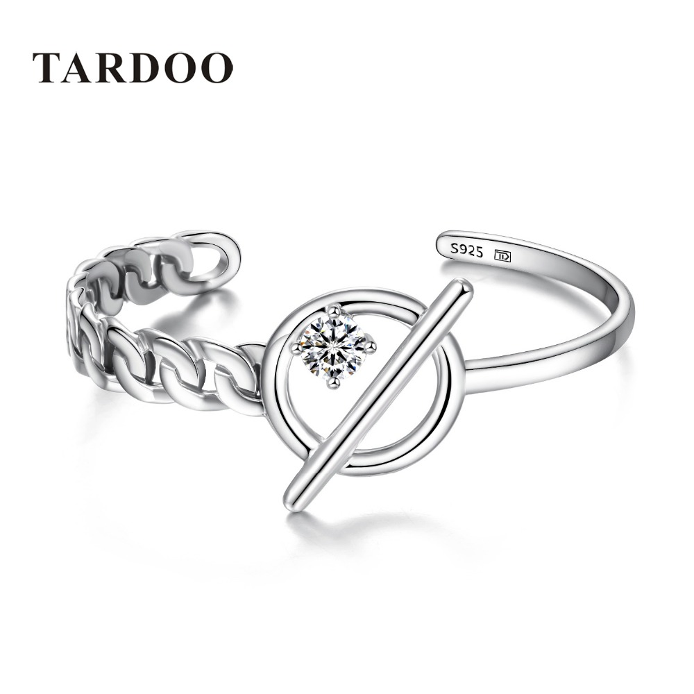 Tardoo Bangles for Women Antique 925 Sterling Silver Irregular Bracelets&Bangles Asymmetric Fine Jewelry Cuff Newest Punk Style tardoo punk style classic silver chain necklace for women