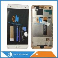 Alta Qualidade Preto Cor Branca Para Ivargo V210101 LCD Com Tela de Toque Digitador Com Quadro Com Ferramentas Fita 1 pc/lote