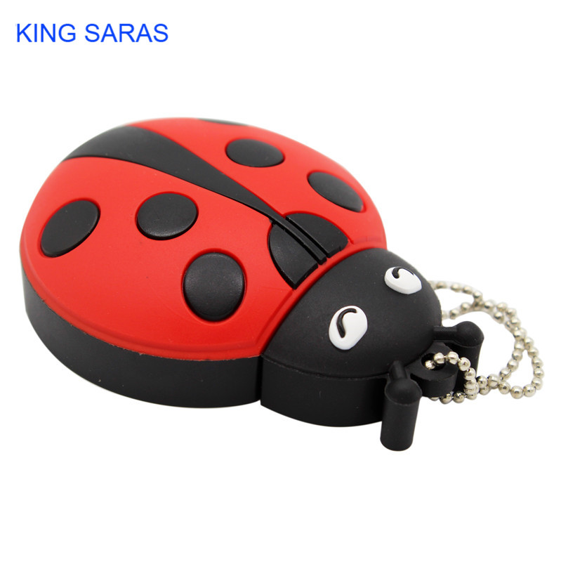 KING SARAS cartoon creative Beetle model usb 2.0 4GB 8GB 16GB 32GB 64GB pen drive USB Flash Drive  gifty Stick Pendrive-in USB Flash Drives from Computer & Office