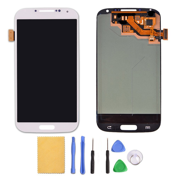 White For Samsung For Galaxy S4 IV i9500 i9505 i337 LCD Touch Screen Digitizer Assembly+Tools