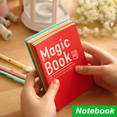 48 pcs/Lot Mini Notebook Magic book diary Soft copybook caderno escolar agenda stationery office material School supplies 6457