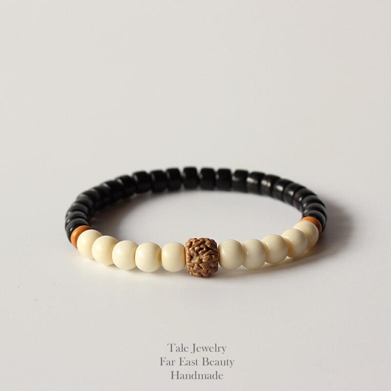 Bijou homme perles ethniques tibétaines et coco.. Bracelet surf