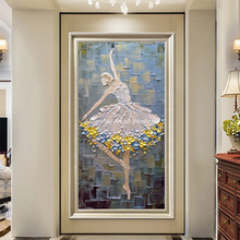 Ballet Dancer paintings Hand Painted Modern Palette Knife Oil Painting On Canvas Wall Art For Living Room Home Decoration