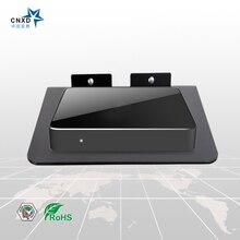 Новый дизайн DVD ТВ коробка настенное крепление набор верхней коробки Стенд крепление цифровой кронштейн DVD монтируемый Маршрутизатор Полка с черным стеклом