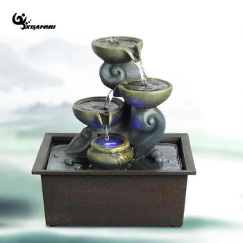 Synthetic Resin Miniature Fountain Creative Watering Home Decor Living Room Office Desk Ornaments High Quality