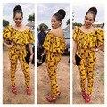 2016 Vestidos Para Las Mujeres Vestido Dashiki Africano Pantalones de Impresión En la Ropa Tradicional Africana Para Las Mujeres Ropa Vestido Dashiki