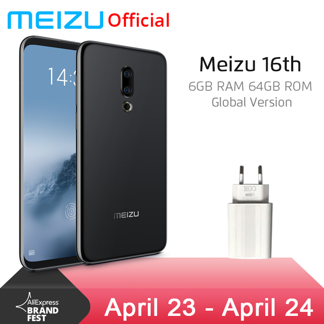 Global Version Meizu 16th 16 th 6GB 64GB Mobile Phone Snapdragon 845 Octa Core 6'' 2160x1080P Front 20.0MP In-Screen Fingerprint