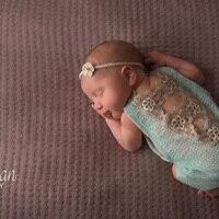 Newborn Foto Requisiten Neugeborenen Geschenk Outfit Baby Foto Prop Baby Mädchen Lace Front Super Weich Strampler Handgemachte Gestrickte Baby Strampler