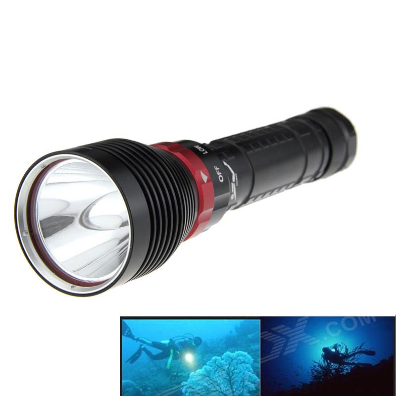 Ultrafire Dive Flashlight XM-L2 3800LM 3-Mode LED Torch Luz Lantern Hunting LED Cavity Tactical Switch LUZ Flashlight ultrafire ab t60 3 mode 910 lumen white led flashlight black 1 x 16340