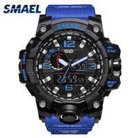 SMAEL Brand Men Sport Watch LED Digital Waterproof Casual S Shock Male Clocks Relogios Masculino Military
