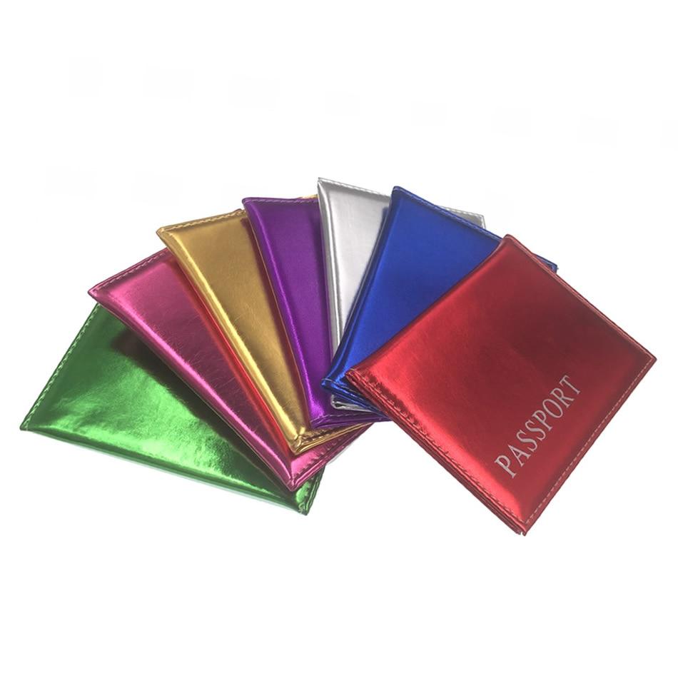 Travel Accessories Passport Covers Men Women PU Leather ID Business Card Bag  Fashion Shiny Passport Holder Passport 14*9.6cm