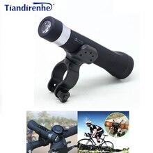 Tiandirenhe alto falante bluetooth power bank portátil bicicleta ciclismo música tocha mp3 lanterna led 2600mah com suporte de bicicleta 5 em 1