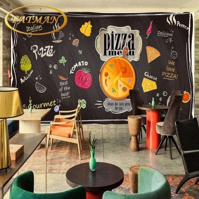Blackboard Wallpaper Murals Food Wallpaper Murals Bistro: Custom Photo Wallpaper Chalk Hand Painted Blackboard