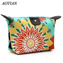 Women Cosmetic Bag Makeup Bag Neceser Portable Make Up Bag Case Floral Print  Organizer Bolsa feminina Travel Toiletry Bag D34
