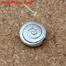 Hot Sale ! 50pcs Antique Silver Aalloy Round Shape Swirl Spacer Beads 10 mm DIY Jewelry D34