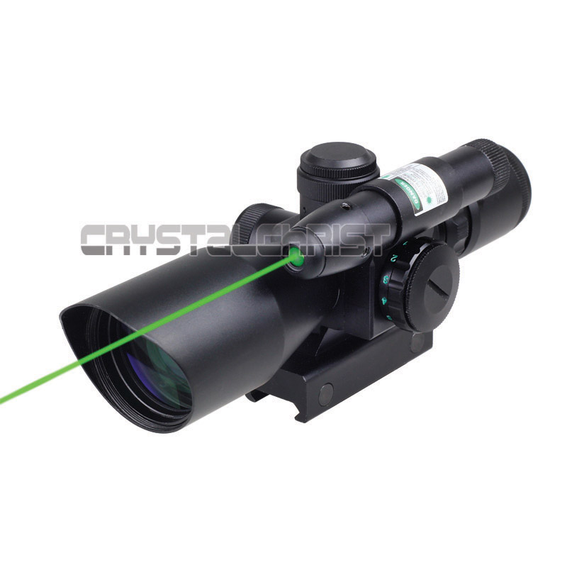 Tactical Compact Laser Riflescope 2.5-10x40 Rifle Scope Laser Green Sight Reflex Red & Green Dual illuminated Mil-dot Sight 3 10x42 red laser m9b tactical rifle scope red green mil dot reticle with side mounted red laser guaranteed 100%