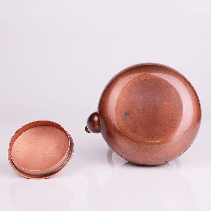 1.2L 手作り赤銅ティーポットガラスサモワールセラミック粘土からエナメルやかんエナメル金属プーアル茶ギフト日本  グループ上の ホーム&ガーデン からの ティーポット の中 3