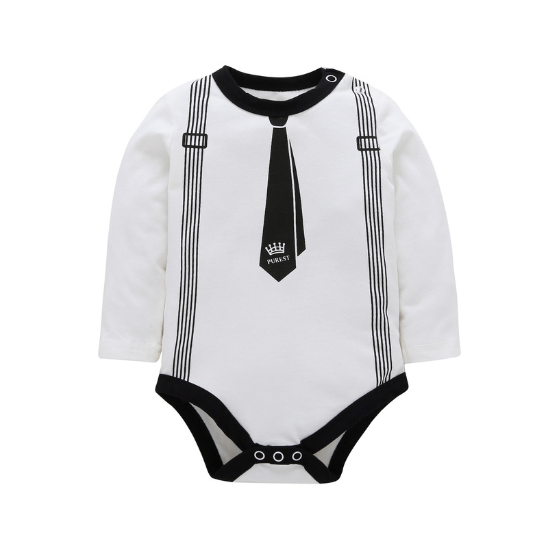 Twins Limited New Baby Body 2018 Fashion And 2 Colors , Long Sleeve Romper Kids Baby Girl Boy Clotes Suit Tie Pattern Clothes