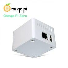 Caso protetor branco alaranjado do pi, caso do abs, apropriado somente para a única placa laranja pi zero, não pode segurar a placa de expansão para dentro