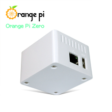 Étui de protection Orange Pi blanc, boîtier ABS, uniquement adapté à une carte Orange Pi zéro, ne peut pas contenir la carte dextension à lintérieur