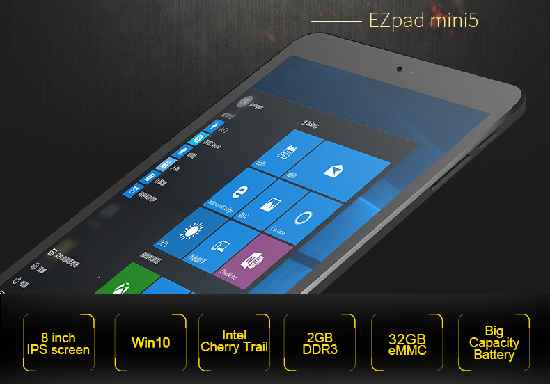 Jumper EZpad Mini 5 8.0 inch IPS Screen tablet Intel Cherry Trail Z8350 2GB DDR3L 32GB eMMC tablet pc HDMI windows 10 tablets (1)