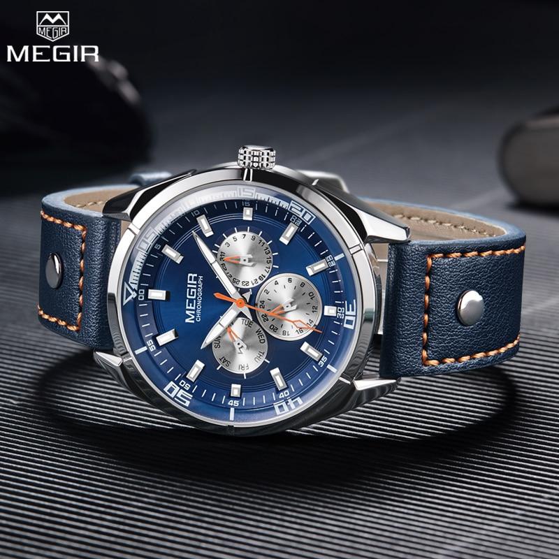 Megir luxe merk heren quartz horloges heren leger militaire - Herenhorloges - Foto 6