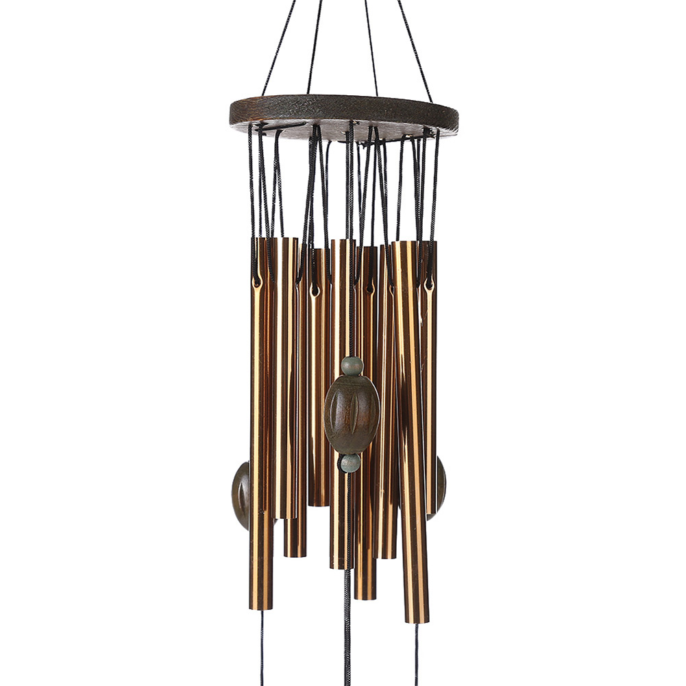 62cm Antirust Copper Wind Chimes Outdoor Living Yard Tubes Bells Garden Decorations Metal WindChimes