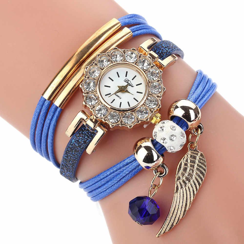 פרח פופולרי נשים קוורץ שעון יוקרה צמיד נשים ליידי מתנה פרח חן שעוני יד Relogio סיטונאי 75