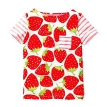 74a8754be Niñas verano Tops niño niños camiseta de Bebé Ropa 2018 marca fresa  camisetas chica Camiseta 100% algodón niños camiseta fille