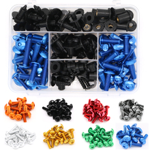For Kawasaki GPZ 500 GPZ500 1994-2000 Vulcan 1700 2009-2013 Speed Nuts M5 Complete Cowling Fairing Bolts Kit Clips 6mm