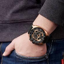 MEGIR Men's Casual Watch Silicone Band Waterproof Military Chronograph Sport Watch  Men Jewelry