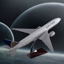 47cm Boeing 777 Aircraft Model United Airlines Forenede Stater B777 Fly Model Resin Airbus Airways Model Rejse Souvenir Gave